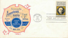 Edgar Lee Masters stamp, first day of issue for American poets series 1970