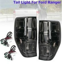 Rear Left/Right Tail Smoked Rear Tail Lights Lamp for Ford Ranger PX T6 MK1 MK2