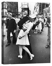 il bacio times square Stampa su tela Canvas effetto dipinto