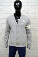 Cardigan Uomo ARTIFICIAL & SMITH Taglia S(L) Pullover Sweather Maglione Grigio