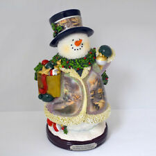 Thomas Kinkade Figurine - MAKING SPIRITS BRIGHT New Item 1513888022 COA