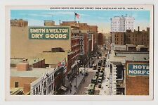 Norfolk,VA.Granby Street Looking South from Southland Hotel,Trollies,c.1918-30s