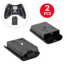 2PCS AA Battery Back Cover Case Shell Pack For Xbox 360 Wireless Controller