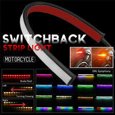 Motorcycle Flowing Switchback Sequential Tail Brake Turn Strip RGB DRL Lights