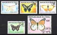 Papillons Mali (11) série complète de 4 timbres oblitérés