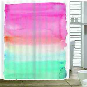 Three Colors Together 3D Shower Curtain Waterproof Fabric Bathroom Decoration