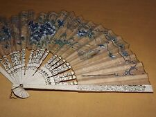 "VINTAGE 9"" HIGH FLOWERS   HAND FAN"