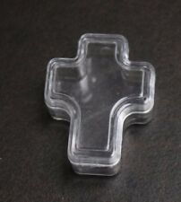 "Cross Shaped Acrylic Box  favor size 2"" x 1"" set of 8 boxes"