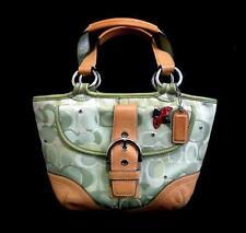 Coach Ltd Ed Green Soho Optic Sig C Sm Lady Bug Applique Tote Bag Purse RARE!