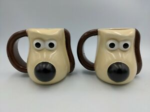 Wallace And Gromit PG Tips (2006) 3D Heat Changing Mug Collectible Used X2
