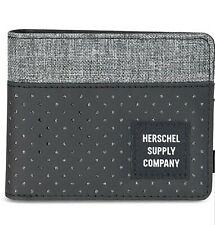 Herschel Supply Co. Men's Roy Bifold RFID Blocking Card Wallet Raven Black