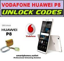 Vodafone UK ONLY Huawei P8 P7 P6 G7 W1 Unlock code 16 Digit 100%correct code