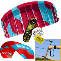 Peter Lynn UNIQ TR 1.5M Single Skin Trainer Kite 3-Line Control Bar Kiteboarding