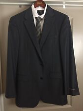 NWT HICKEY FREEMAN Charcoal 100% WORSTED WOOL Complete Suit 40 L W34 MSRP $1795