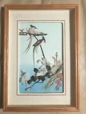 Nice Vintage 3D Bird On Branch Artwork #1 - Framed
