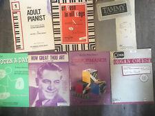 Piano & Organ Course Book Lot (7) Sheet Music Some Antique
