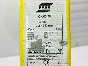 ESAB E316L OK63.30 STAINLESS WELDING ELECTRODE RODS 3.2MM.