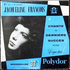 JACQUELINE FRANCOIS DERNIERS SUCCES 25CM 10'' Biem 1ère série Polydor LP 530.000