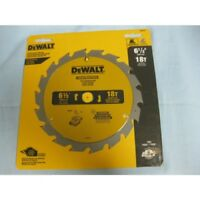 "DEWALT,6-1/2""18 Tooth ATB Fast Cutting Carbide Saw Blade with 5/8""Arbor"