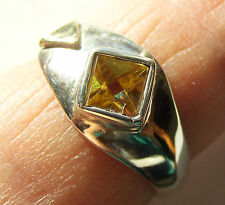 Citrin-Ring, 925er Sil., Gr.57