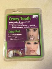 New Crazy Teeth With Jewel In Tooth Halloween Costume Accessory Denture