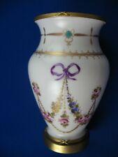 Antique rare SEVRES 18TH century porcelain VASE . Bronze fmouth & foot