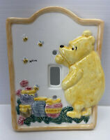 Disney Classic Winnie The Pooh Ceramic Single Light Switch Plate Cover Charpente