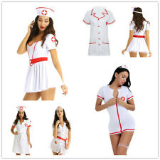 Adult Women Nurse Doctor Fancy Costume Halloween Party Outfit Role Play Uniform