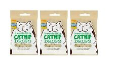 CATNIP DROPS x3 packs of 40g Cat Treats GOOD GIRL Flavoured With REAL Catnip