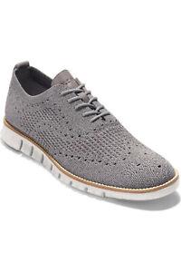 Cole Haan Zerogrand Stitchlite Oxford Shoe Grey Men 13 C27692 NIB $180 MSRP