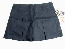 Dickies Navy Blue Skort Zip Front DickiesGirl Stretch Fabric JUNIORS SIZE 9 NWT