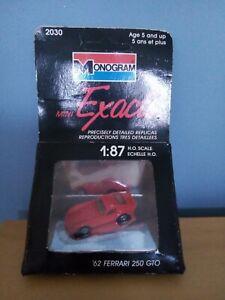 Monogram Model 250GTO Ferrari 01:87 H.O. Scale