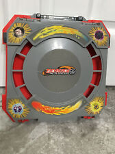 BEYBLADE METAL FUSION GREY RED FOLDING TRAVEL BATTLE ARENA STADIUM CARRY CASE