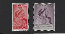 North Borneo 1948 Silver Wedding Issue #238-9 Mint/VLH Set B3592