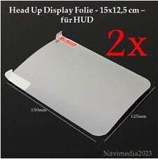 2X Head Up Display Folie - für HUD 15x12,5 cm NEU