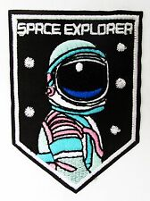 UFO Alien Space Explorer Roswell Area 51 Space Green Iron On Patch UK Badge Bag