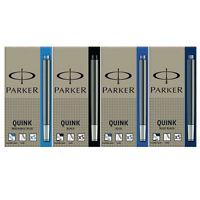 Parker Quink Fountain Pen Ink Cartridges Black / Blue / Blue-Black Washable