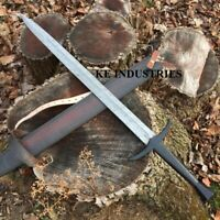Blacksmith New Custom made Damascus Steel Viking Medieval Sword, Wooden Handle