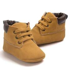 Baby Toddler Soft Sole Leather Shoes Infant Boy Girl Toddler Shoes Khaki 12