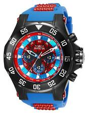 Invicta 25689 Marvel Spiderman Men's 52mm Black Steel Red/Blue Dial Watch