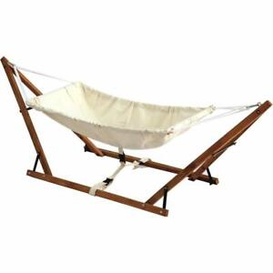 foldable baby hammock natural wooden babyhammock cradle cotton travel crib swing
