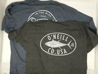 Men's O'Neill Premium Graphic T-Shirt Black Heather Tuna Fishing Medium NEW NWT