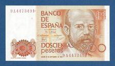 ESPAÑA // SPAIN -- 200 PESETAS ( 1980 ) -- VF+ -- SERIE DE SUSTITUCION 9A .