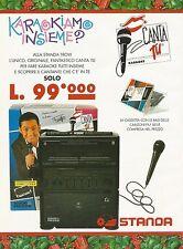 X7337 Karaoke Canta Tu - Giochi Preziosi - Pubblicità 1994 - Vintage advertising