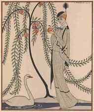 A4 Foto Barbier George Gaceta 1913 aux Jardin des Hespérides impreso Poster