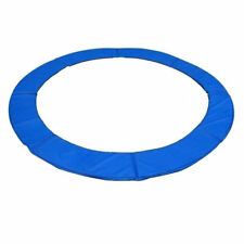 HOMCOM 14FT Blue Trampoline Pad Spring Safety Cover Replacement Round Frame