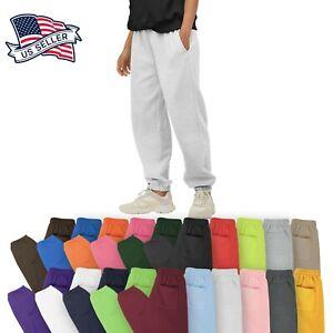 Mens Sweatpants Fleece Jogger Workout Gym Pants S - 5XL Campus Lounge Bottom