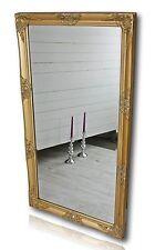 Spiegel gold antik 132x72 Antik Holz Wandspiegel barock Badspiegel Standspiegel