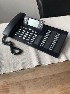 Elmeg CS410-U ISDN Systemtelefon Systemapparat schwarz mit Erweiterung T400