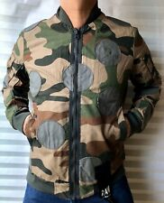 "G-Star Raw Lucas Canvas Batt CR Bomber Jacket 'Camouflage' Size L Chest 44"" New"